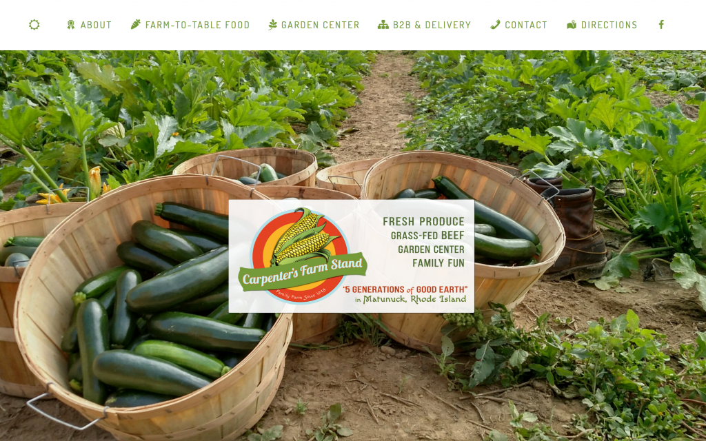 Carpenter's Farm Stand Website